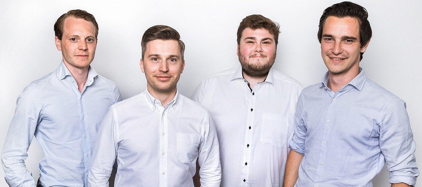 Das Gründerteam von wirbauen.digital an der ESCP Business School und dem Jean-Baptiste Say Institut